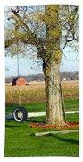 Tree Tire Swing  Bath Towel