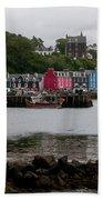 Tobermory Town Cityscape, Isle Of Mull Bath Towel