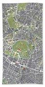 Tokyo City Map Engraving Bath Towel