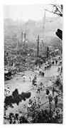 Tokyo Earthquake, 1923 Bath Towel