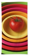 Tomato In Mixing Bowls Bath Towel