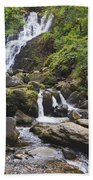 Torc Waterfall In Killarney National Bath Towel