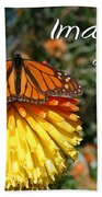 Torch Lily And Monarch Bath Towel