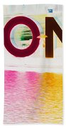 Toronto Sign In Muted Colours Bath Towel