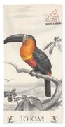 Toucan Bird Responsible Travel Art Bath Towel
