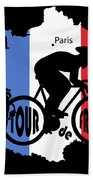 Tour De France 3 Bath Towel