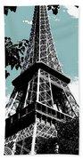 Tour Eiffel Bath Towel