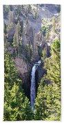 Tower Fall Yellowstone Bath Towel