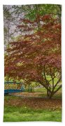 Tower Grove Arched Bridge And Maple Tree Dsc01828 Bath Towel