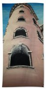 Tower In Lyon France Traboules Bath Towel