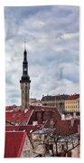 Towers Of The Tallinn Old Town Bath Towel