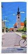 Town Of Bicycles Koprivnica Street View Bath Towel