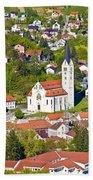 Town Of Krapina Church Vertical View Bath Towel