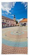 Town Of Ludbreg Square Vertical View Bath Towel