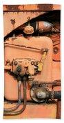 Tractor Engine V Bath Sheet by Stephen Mitchell