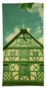 Traditional House Roth Germany Cross Process Holga Photography Hand Towel