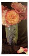 Traditional Rose Still Life Hand Towel