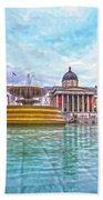 Trafalgar Square Fountain London 8 Bath Towel