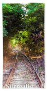 Trails Of Tracks Bath Towel
