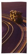 Train At Sunset Bath Towel