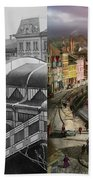 Train Station - Wuppertal Suspension Railway 1913 - Side By Side Bath Towel