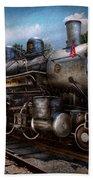 Train - Steam - 385 Fully Restored  Bath Towel