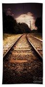 Train Tour Of Darkness Bath Towel
