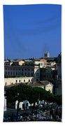 Trajan's Column Church Of Santa Maria Di Loreto Church Of Our Lady Giclee Rome Italy Bath Towel