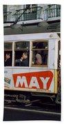 Tram 223, Graca, Lisbon, 1972 Bath Towel