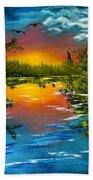 Tranquil Lake Bath Towel