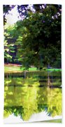 Tranquil Landscape At A Lake 1 Bath Towel