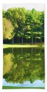 Tranquil Landscape At A Lake 2 Bath Towel