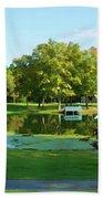 Tranquil Landscape At A Lake 5 Bath Towel