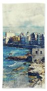 Trapani Art 19 Sicily Bath Towel