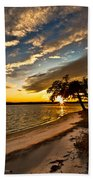 Trapped Sunset Bath Towel