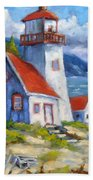 Traps And Lighthouse Bath Towel
