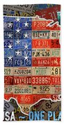 Travel The Usa One Plate At A Time License Plate Art By Design Turnpike Bath Towel