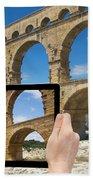 Travel To Pont Du Gard  Bath Towel