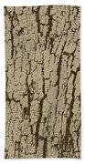 Tree Bark Texture Brown Bath Towel