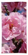 Tree Blossoming Pink Spring Blue Sky Baslee Troutman Bath Towel