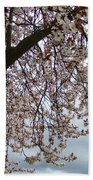 Tree Blossoms Landscape 11 Spring Blossoms Art Prints Giclee Sky Storm Clouds Bath Towel