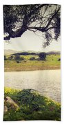 Tree By The Lake Hand Towel