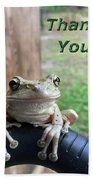 Tree Frog Thank You Bath Towel