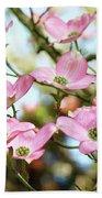 Tree Landscape Pink Dogwood Flowers Baslee Troutman Bath Towel