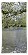 Tree-lined - Swollen River Dove At Thorpe Bath Towel