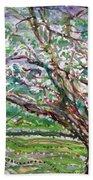 Tree, Loom Of Light And Life Bath Towel