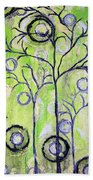Tree Of Life Spring Abstract Tree Painting  Bath Towel