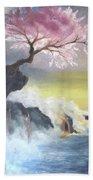 Tree On Cliff Bath Towel