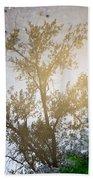 Tree Reflection Upside Down 1 Bath Towel