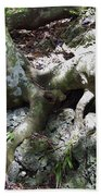 Tree Roots On The Bank Bath Towel